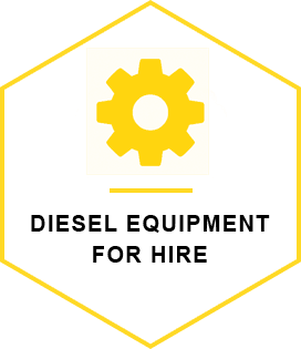 Diesel equipment for hire